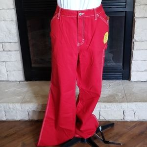 Dickies Jr's Size 16 relaxed Carpenter Jeans Red